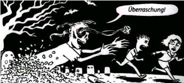 ?? Zeichnung: Patu ?? Der totgesagte Feminismus treibt wieder sein Unwesen.
