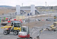 ??  ?? Work at Kintore Station has now been halted
