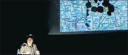 ?? ÀLEX GARCIA ?? Una imagen de la performance Dialograma, de Jaime Serra