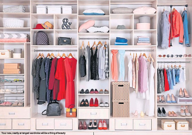??  ?? Your new, neatly arranged wardrobe will be a thing of beauty