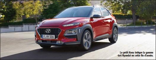 ??  ?? Le petit Kona intègre la gamme 4x4 Hyundai en cette fin d'année.