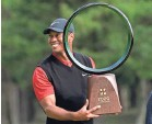 ?? LEE JIN-MAN/AP ?? Tiger Woods notched his record-tying 82nd win on the PGA Tour in the Zozo Championship in Japan.
