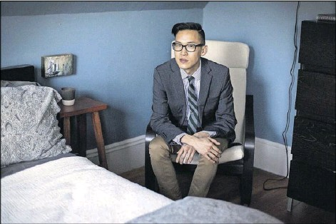 """?? Kayana Szymczak/The New York Times ?? Dr. Philip Cheng was denied a lifetime disability policy because he was taking a cocktail of two anti-HIV drugs, a practice called PrEP that has lowered the risk of HIV infection to nearly zero. """"PrEP is the responsible thing to do,"""" Cheng says. """"It's..."""