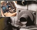 ??  ?? MODIFICAÇíO SUTIL O Chevette GP 78 possui o motor OHC 1.4 com pouco mais de 70 cavalos. Um filtro de ar esportivo no carburador Solex simples deu uma força. Há também uma tomada de ar frio que capta o ar para o carburador mas está desativado pela falta da caixa de filtro original. Diferentemente do GP 1 e GP 2, a versão de 78 contém uma identificação no número do chassi, indicando que aquele carro é um GP autêntico.