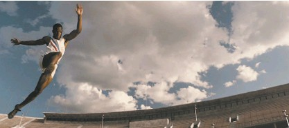 """?? Focus Features ?? Stephan James stars as Jesse Owens in """"Race."""" The movie is a biopic of the African American track star who refuted the myth of Aryan supremacy with his wins at the 1936 Berlin Olympics."""