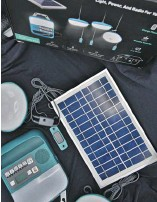 ??  ?? During a disaster, the Biolite's Solarhome 620 solar panel can set up outside and satisfy your light, radio and charging needs.