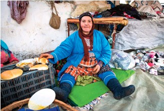 """??  ?? """"Business was good before,"""" says Hanani, who is in her 50s, but now """"there is no more work."""""""