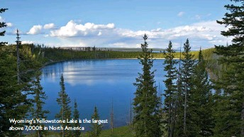 ??  ?? Wyoming's Yellowstone Lake is the largest above 7,000ft in North America