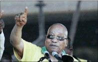 ??  ?? 'WHAT'S THE FUSS?': President Jacob Zuma at the Royal Bafokeng stadium near Rustenburg during the ANC's 104th birthday celebrations at the weekend. He played down the axing of Nhlanhla Nene. PICTURE: MASI LOSI