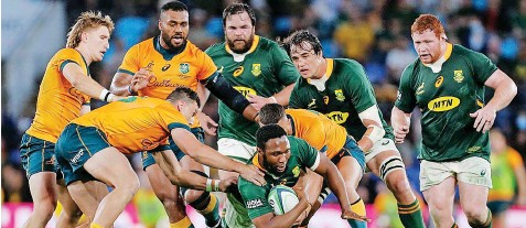 ?? | REGI VARGHESE EPA ?? LUKHANYO Am is hoping to see better execution on attack from the Springboks against the All Blacks.