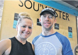 ?? KATHY JOHNSON • TRI-COUNTY VANGUARD ?? Riley and Ryan Foley are the owners of Sou'Wester Athletics in Shelburne and Barrington Passage.