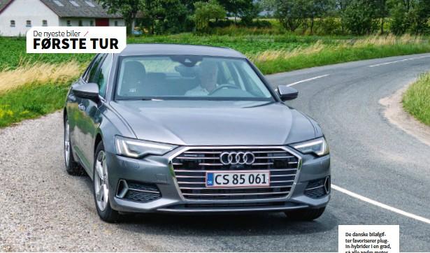 ??  ?? De danske bilafgifter favoriserer plugin-hybrider i en grad, så alle andre motorvarianter naermest er uinteressante. Audi A6 bør vaere hybrid.