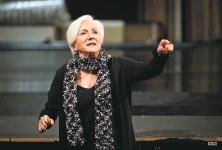 """?? Russell Yip / The Chronicle 2012 ?? Olympia Dukakis rehearses for an American Conservatory Theater production of """"Elektra"""" at the Geary Theater in San Francisco in October 2012. Dukakis became a trustee at ACT."""