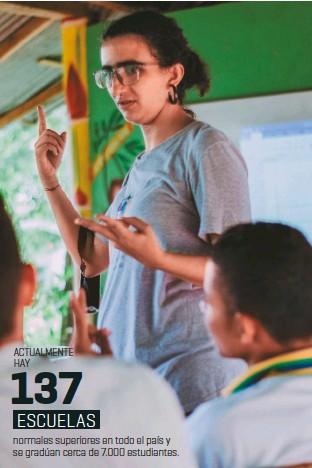 ??  ?? Juana Yunis, coordinadora de Educapaz en la zona de Córdoba, lidera el proceso de transformación de la institución Nuevo Oriente.
