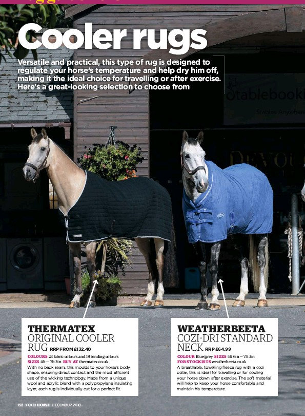 This Type Of Rug Is Designed To Regulate Your Horse S Temperature And Help Dry Him Off Making It The Ideal Choice For Travelling Or After Exercise