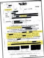 ??  ?? Documento publicado en la cuenta The Black Vault.