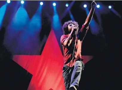 ?? AFP ?? Zack de la Rocha, cantante de Rage Against the Machine.