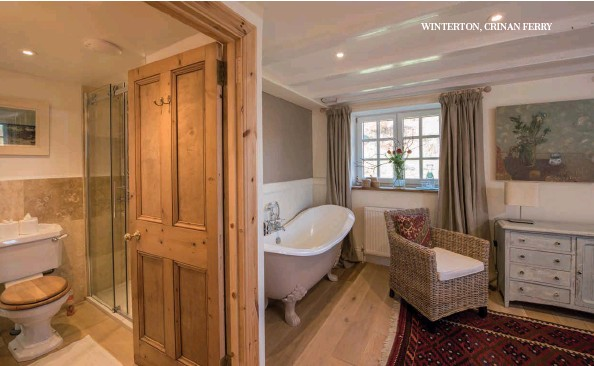 ??  ?? Above: As well as an en suite there's a claw foot bath in one of the bedrooms.