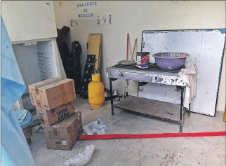 ?? ÉDGAR ROMERO / EXPRESO ?? Descuido. Varios implementos de este centro infantil se deterioran al igual que la infraestructura de la obra.