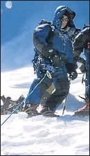 ?? LUIS MIGUEL LÓPEZ ?? Soria, en la cima del Annapurna