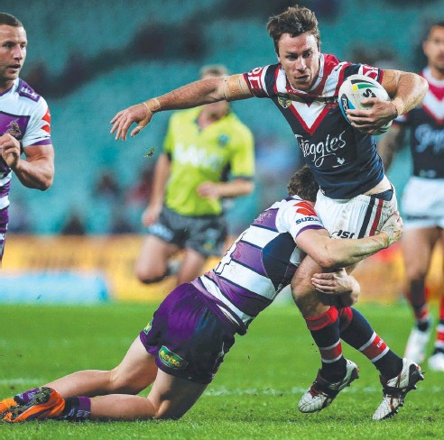 ??  ?? STORM BEATER: Roosters five-eighth James Maloney was a headache for Melbourne Storm. Main picture: Phil Hillyard