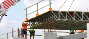 ??  ?? ■ Floor cassettes definitely speed up construction. SteelWood Joists (SWJ) and floor cassettes, designed and developed by Multinail, is not only quick to install but has a brilliant accuracy factor, maximises quality and reduces on-site waste, plus...