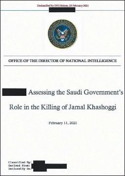 ??  ?? 美國國家情報總監辦公室公開關于著名記者哈蘇吉遇害的報告,直指沙地阿拉伯王儲穆罕默德(右上圖)批準殺害哈蘇吉。