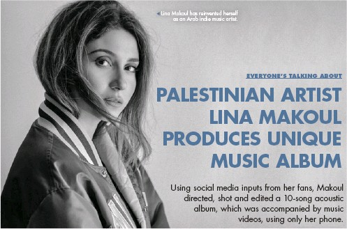 ??  ?? Lina Makoul has reinvented herself as an Arab indie music artist.
