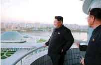 ??  ?? North Korean leader Kim Jong Un gives field guidance at the Sci-Tech Complex in this undated photo released by KCNA in Pyongyang on Wednesday.