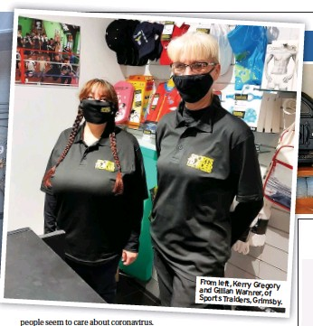 ??  ?? From left, Kerry Gregory and Gillian Warnrer, of Sports Traiders, Grimsby.