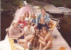 ?? MCMURTRY FAMILY ?? The McMurtry family on the dock in the late 1970s.