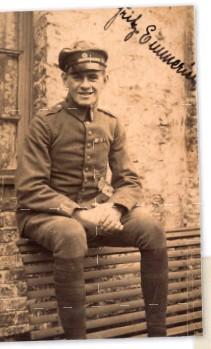 ??  ?? ■ Unteroffizier Emmerich wearing his Bavarian badge.
