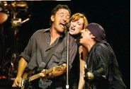 """??  ?? BACK ON E STREET Springsteen, Scialfa, and Van Zandt on tour for The Rising in 2002. """"I found a way to be in a TV show and a touring Rock and Roll band,"""" he writes."""