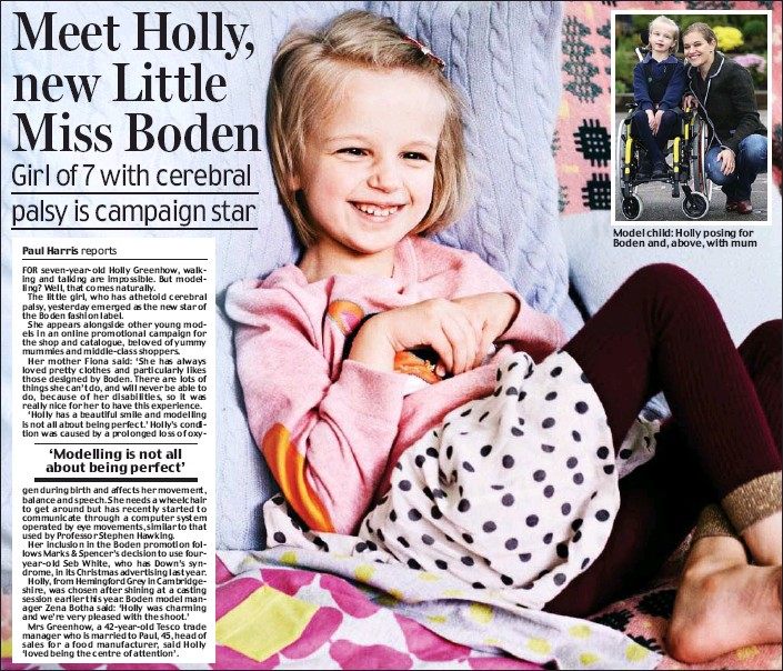 Pressreader Daily Mail 2013 11 06 Meet Holly New Little Miss Boden