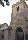 ??  ?? Historian Paul Crampton believes vandals have tried to prise open the tomb of Richard Plantagenet, an illegitimate son of King Richard III, below, at a ruined church in Eastwell near Ashford