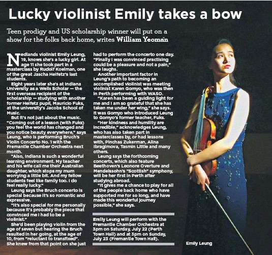 ??  ?? Emily Leung