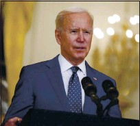 ?? ANDREW HARNIK — THE ASSOCIATED PRESS, FILE ?? President Joe Biden is hosting 40 world leaders for a virtual conference on climate change today and Friday.