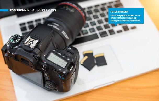 ??  ?? FOTOS SICHERN Einmal eingerichtet sichern Sie mit einer professionellen Back-upLösung Ihr Fotoarchiv automatisch.