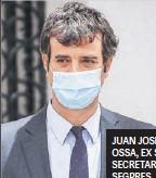??  ?? JUAN JOSÉ OSSA, EX SUBSECRETARIO SEGPRES.