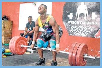 ??  ?? Luis Miguel Quiñones, tres medallas de oro en los 96 kilos.