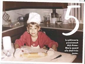 ??  ?? La pâtisserie passionnait déjà AnneMarie quand elle était très jeune.