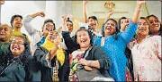 ?? AFP ?? Transgender activists celebrate outside the Court of Appeals in Putrajaya after the ruling on Friday.