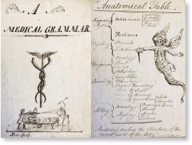 ??  ?? In addition to his diary, Anderson created a kind of medical text, also unpublished, which he adorned with drawings. Here a doctor battles the personifica tion of Death.
