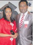 ??  ?? Tigist Getachew with Arts and Culture Award finalist Sisay Shimeles at the Immigrants of Distinction Awards.