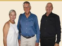 ?? (Efi Sameach) ?? ARIELA WERTHEIMER, Dan Shechtman and Eitan Wertheimer.