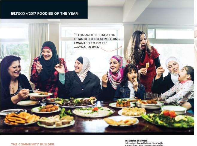 """??  ?? """"I thought If I had the chance to do somethIng, I wanted to do It."""" — Nihal ElwaN The Women of Tayybeh Left to right: Rawaa Mahouk, Heba Najib, Hasna Shekh Omar, Leena Alahmad with daughter Loubana, Nihal Elwan, Raghda Hassan with daughter Solar. Taken..."""