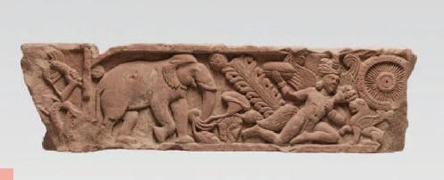 ??  ?? 1 Architrave de portail Mathura Fin Ier – début IIE siècle après J.-C. Arénaire rouge ©Musée d'art de Mendrisio