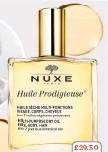??  ?? £29.50 NUXE Huile Dry Oil