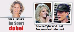 ??  ?? Bo Bonnie i T Tyler l und d L Lost t Frequencies treten auf.