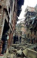 ??  ?? Distruzione Gli effetti del sisma